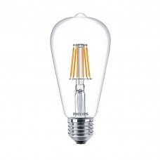 Светодиодная лампа LEDClassic6-70W ST64 E27 WW CL ND APR Philips