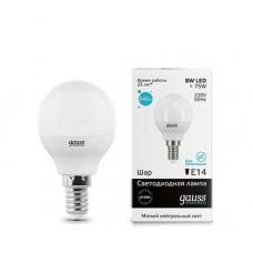 Светодиодная лампа LED Elementary Globe 8W E14 4100K 1/10/50 Gauss