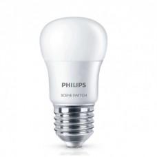 Светодиодная лампа Scene Switch P45 2S 6.5-60W E27 3000K Philips