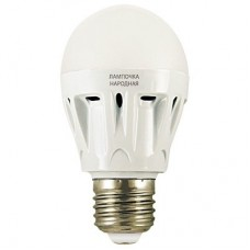 Светодиодная лампа НЛ-LED-A60-12 Вт-230 В-6500 К-Е27, (60х112 мм), Народная