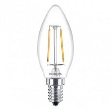 Светодиодная лампа LEDClassic 2-25W B35 E14 WW CL ND APR Philips