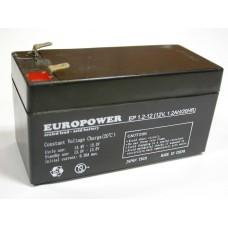 Аккумулятор Europower EP 1,2-12
