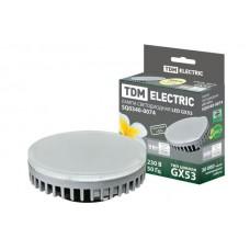 Светодиодная лампа GX53-9 Вт-230 В-3000 К Народная TDM