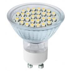 Светодиодная лампа PAR16-5 Вт-220 В -3000 К–GU 10 SMD TDM