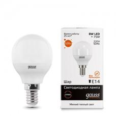 Светодиодная лампа LED Elementary Globe 8W E14 2700K 1/10/50 Gauss
