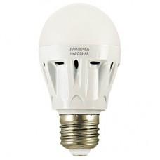 Светодиодная лампа НЛ-LED-A60-7 Вт-230 В-6500 К-Е27, (58х109 мм), Народная