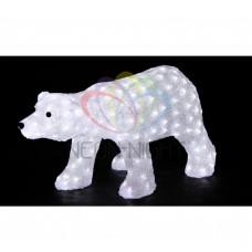 Акриловая фигура NEON-NIGHT Белый медведь, 81х41х45 см, 270 светодиодов белого цвета, IP44 513-248