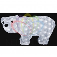 Акриловая фигура NEON-NIGHT Белый мишка, 25х15 см, 20 светодиодов белого цвета, IP44, б/п батарейный 4,5V NEO 513-252