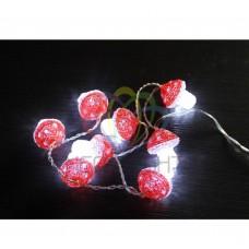 Акриловая фигура NEON-NIGHT Грибы 8 шт, 6 см, 8 белых светодиодов 513-257