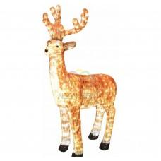 Акриловая светодиодная фигура NEON-NIGHT Бурый олень , 130 см, 380 светодиодов 513-306