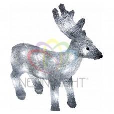 Акриловая светодиодная фигура NEON-NIGHT Оленёнок, 28 см, на батарейках, 24 светодиодов 513-321