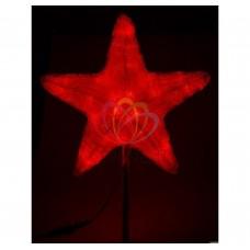 Акриловая светодиодная фигура NEON-NIGHT Звезда 30см, 45 светодиодов, красная, 4,6В 513-432