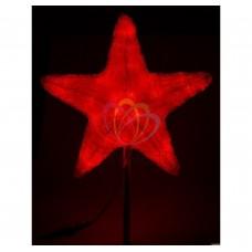 Акриловая светодиодная фигура NEON-NIGHT Звезда 50см, 160 светодиодов, красная, 9,2В 513-452