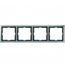 Artec Рамка 4-ная, стальн. (max 18) Schneider Electric