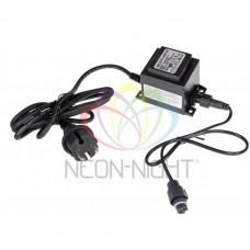 Блок питания для подключения светодиодных сосулек NEON-NIGHT 50 см и 80 см, 230-9,5V, цвет черный. 256-154