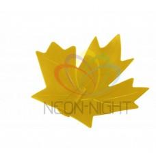 CC-1 колпачек кленовый лист NEON-NIGHT (для дюраплей) желтый CC-1-14