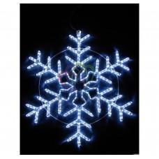 Cветовая фигура NEON-NIGHT СНЕЖИНКА мерцающая LED 95 см 501-338