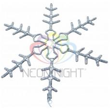 Cветовая фигура NEON-NIGHT СНЕЖИНКА мигающая LED 95 см(2W с контроллером) 501-348