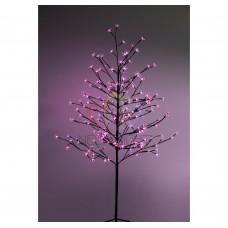 """Дерево комнатное """"Сакура"""", коричневый цвет ствола и веток, высота 1.5 метра, 120 светодиодов розового цвета, трансформатор IP44 NEON-NIGHT"""