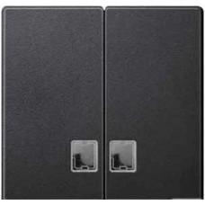 Две клав.с бесц.прям.ок.д/св.инд.анрацит Schneider Electric