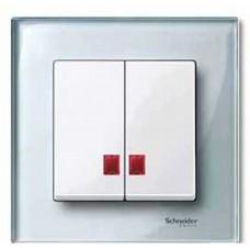 Двойная клавиша с окнами для симв. Schneider Electric