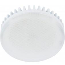 Светодиодная лампа Ecola GX53 LED 10,0W Tablet 220V 6000K матовое стекло (ребристый алюминесцентная радиатор) 27x75