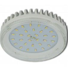Светодиодная лампа Ecola GX53 LED 8,5W Tablet 220V 6000K прозрачное стекло (ребристый алюм радиатор) 27x75
