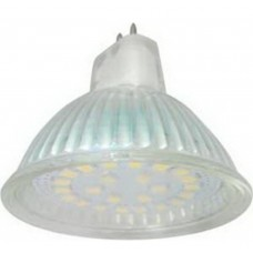 Светодиодная лампа Ecola Light MR16 LED 5,0W 220V GU5,3 4200K прозрачное стекло 48x50 лампа