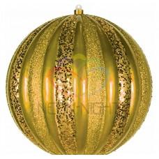Елочная фигура NEON-NIGHT Арбуз, 25 см, цвет золотой 502-081