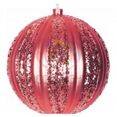 Елочная фигура NEON-NIGHT Полосатый шар, 20 см, цвет красный 502-072