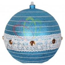 Елочная Фигура NEON-NIGHT Шар погремушка 20 см, цвет синий/серебряный 502-413