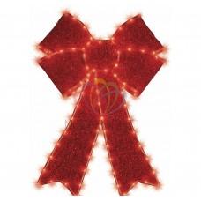 Фигура NEON-NIGHT Бантик бархатная, с постоянным свечением, размеры 75*65 см 514-031