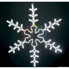 Фигура NEON-NIGHT BN-107-LED Большая Снежинка светодиодная белая, размер 95*95 см 501-333