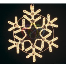 Фигура NEON-NIGHT SL-099 Снежинка белая, размер 55*55 см 501-324