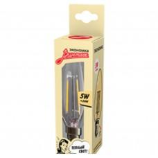 Светодиодная лампа Филамент 5Вт Свеча 160-260V Е14 450лм 2700K Экономка