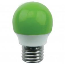 Светодиодная лампа Globe LED color 2,6W G45 220V E27 Green шар Зеленый матовая колба 75x45 Ecola