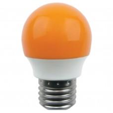 Светодиодная лампа Globe LED color 2,6W G45 220V E27 Yellow шар Желтый матовая колба 75x45 Ecola