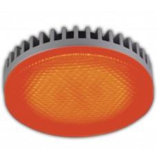 Светодиодная лампа GX53 LED color 6,1W Tablet 220V Red Красный матовое стекло 28x74 Ecola
