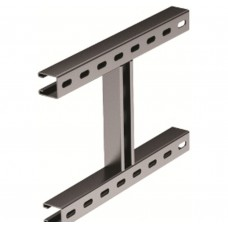 H-образное крепление к вертикальной двутавровой балке, 200 мм, горячеоцинкованное DKC