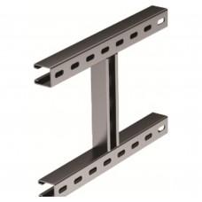 H-образное крепление к вертикальной двутавровой балке, 400 мм, горячеоцинкованное DKC