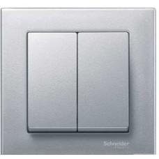Клавиша x2, алюминий Schneider Electric