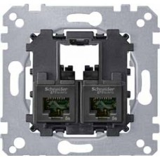 коннектор 2xRJ45 CAT5E UTP Merten Schneider Electric