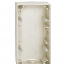 Коробка для наружного монтажа х2, бежевый Schneider Electric