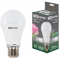 Светодиодная лампа А60 - 7 Вт-220 В -4000 К–E27 TDM ELECTRIC
