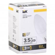 Светодиодная лампа C35 свеча 3.5 Вт 250 Лм 230 В 3000 К E14 IEK