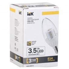 Светодиодная лампа C35 свеча кристал 3.5 Вт 260 Лм 230 В 2700 К E14 IEK