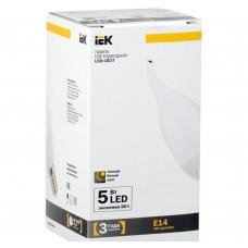 Светодиодная лампа CB37 свеча на ветру 5 Вт 400 Лм 230 В 3000 К E14 IEK