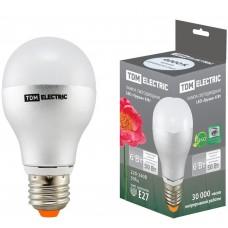 Светодиодная лампа Груша - 6 Вт - 220 В - 4000 К – E27 TDM