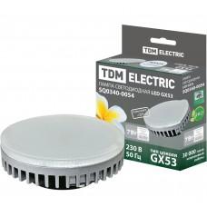 Светодиодная лампа GX53-7 Вт-4000 К TDM ELECTRIC