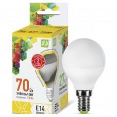 Светодиодная лампа ASD LED-ШАР-standard-7.5-E14-3000
